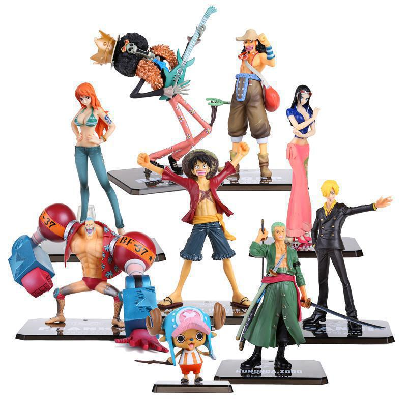 Free Shipping One Piece PVC Action Figure Toys 16cm luffy Zoro Robin Nami PVC Figure toy Dolls Model for gifts  F0532 action figure one piece