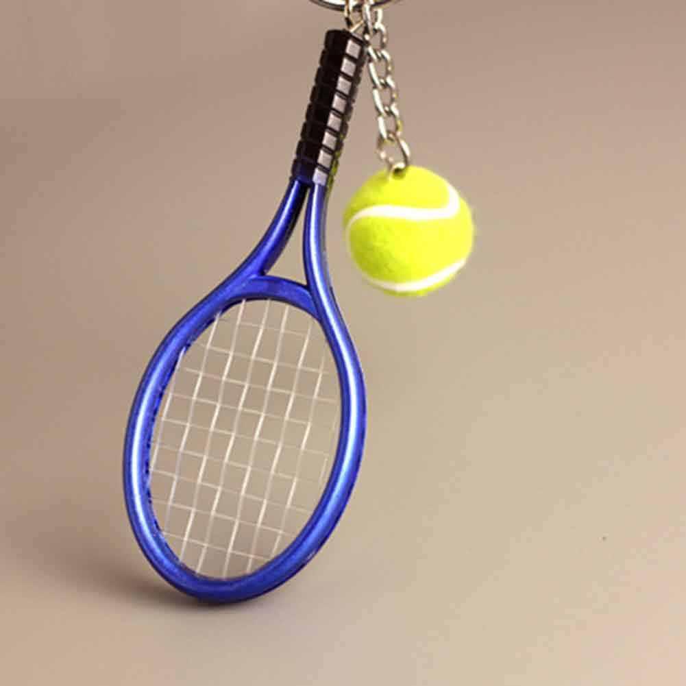 LLavero de tenis de 6 colores, raqueta de tenis, modelo, llaveros, mujer, creativo, portachiavi