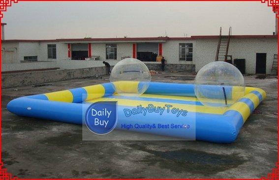 WP05 8 m * 8 m piscina de água, piscina apto para 8-1 5 pcs água bola 0.6mm PVC kits De Reparo ventilador de ar de graça