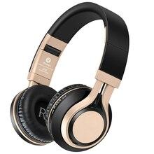 Звук интонировать BT-08 Bluetooth наушники Беспроводной с микрофоном Поддержка TF карты FM Радио стерео Бас-гарнитура для IOS Android ПК TV MP3