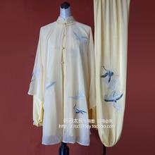 Customize Tai chi clothing Martial arts suit taiji performance shawl kungfu uniform for men women children kids girl boy adults