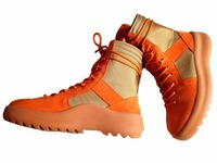2017New Arrival Kanye West Boots All Matching Leather Platform Mens Thick Bottom Sawtooth Lacing High Street