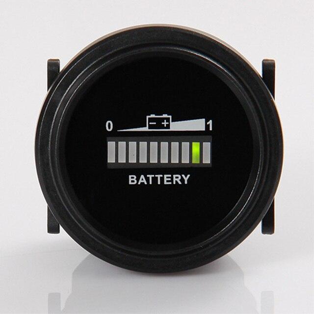 Круглый СВЕТОДИОДНЫЙ индикатор батареи 12 ~ 72 В для ван мопед погрузчик бульдозер моторная лодка электрический автомобиль экскурсию полицейский патруль
