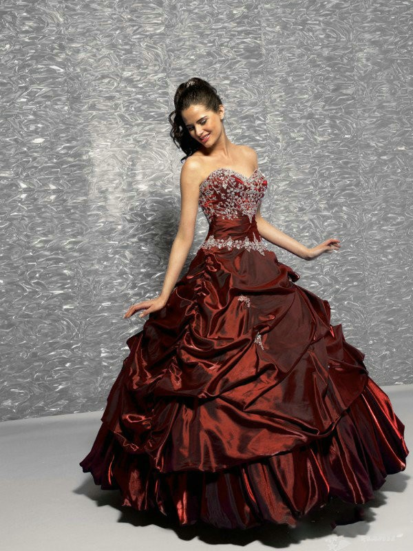 Dark Red Ball Gown Promotion-Shop for Promotional Dark Red Ball ...