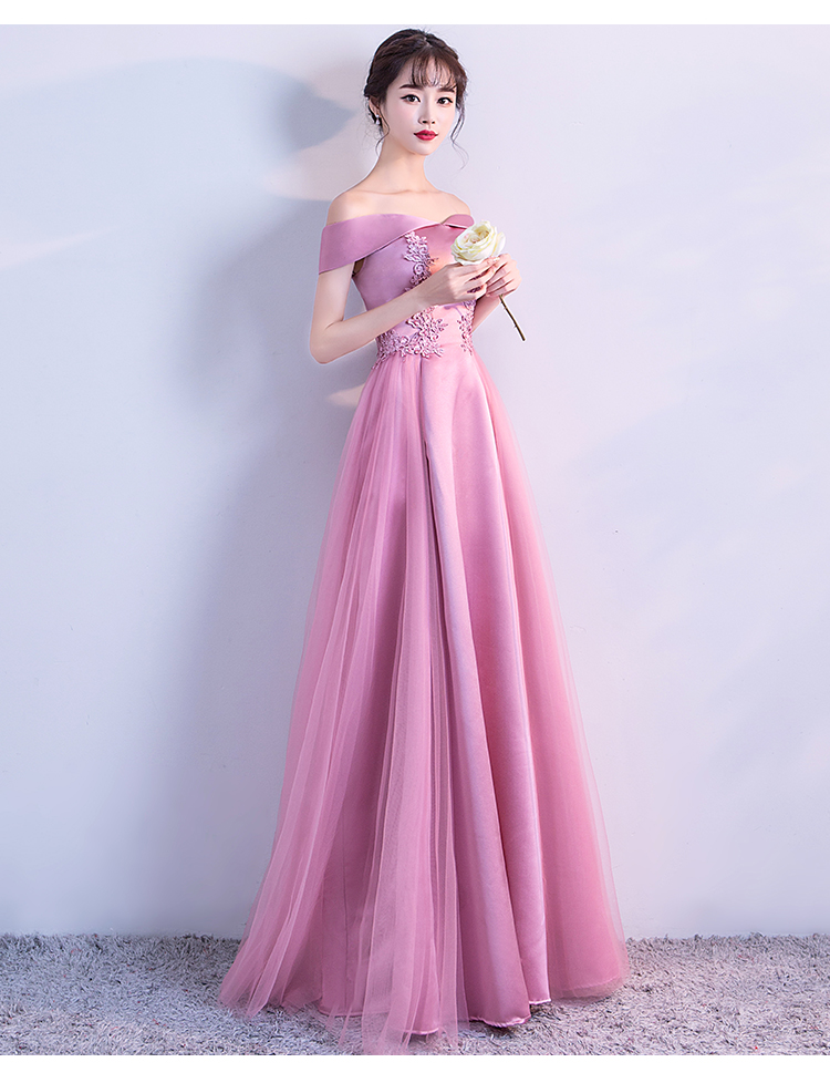 Pink Long Evening Dresses 2018 New Arrival Homecoming dresses Party ...