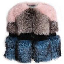 Chaqueta de piel para mujer, chaqueta de piel auténtica, Chaqueta de piel natural hasta 5xl