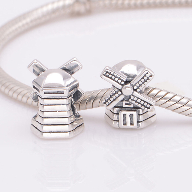 Original 925 sterling silver windmill charm bead fits pandora charms original 925 sterling silver windmill charm bead fits pandora charms bracelet diy necklaces pendants jewelry aloadofball Image collections