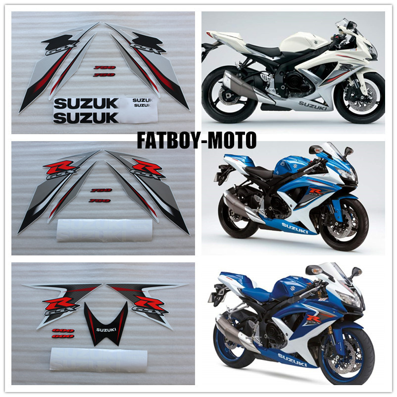 2008 2009 bike motorcycle for Suzuki GSXR GSX R GSX R 600 700 K8 decal stickers