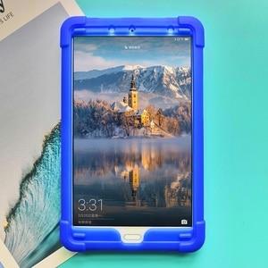 Image 3 - MingShore 頑丈なシリコーン Huawei 社の MediaPad M5 8.4 インチ SHT AL09 SHT W09 タブレット耐衝撃カバーケース