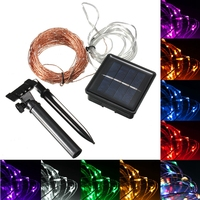 20M 200 LED Solar Powered Copper Wire String Fairy Light Xmas Party Decor For Christmas Trees