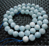 Freeshipping Wholesale 2 Strands Set Natural 7 5 8mm Brazilian Aquamarine Round Beads Stone Gem For