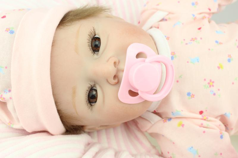 22/55cm Realistic Soft Silicone Reborn Dolls Kids Sleeping Accompany Toys Playmates Brinquedos for Girl Boy Wedding Gift Dolls22/55cm Realistic Soft Silicone Reborn Dolls Kids Sleeping Accompany Toys Playmates Brinquedos for Girl Boy Wedding Gift Dolls