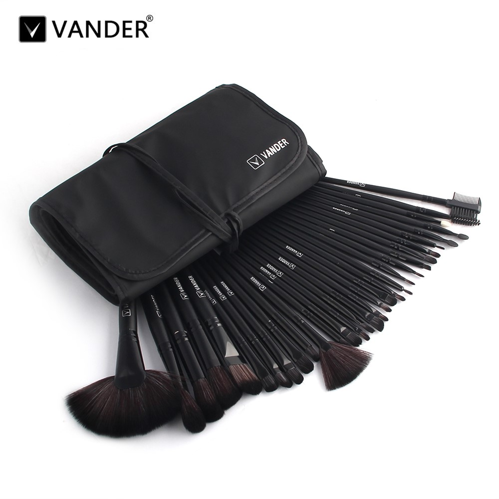 VANDER 32pcs Makeup Brush Set Professional Cosmetic Kits Brushes Foundation Powder Blush Eyeliner pincel maquiagem w/ Bag vander 5 32pcs makeup brush set