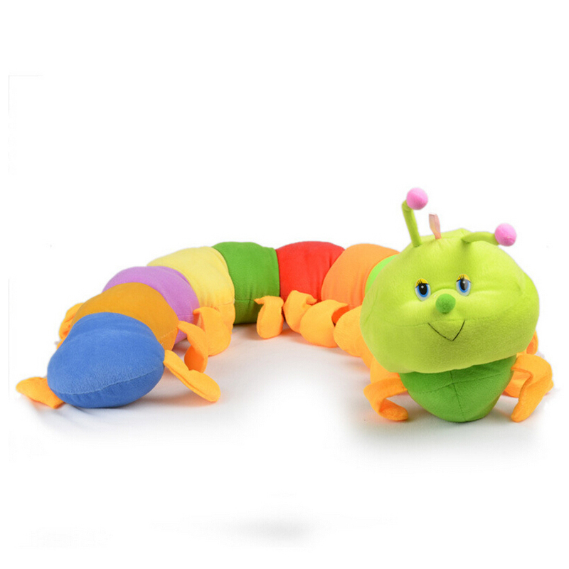 50cm Popular Baby Toys Colorful Caterpillars Millennium Bug Doll Plush Toys Large Caterpillar Hold Pillow Doll toys for children