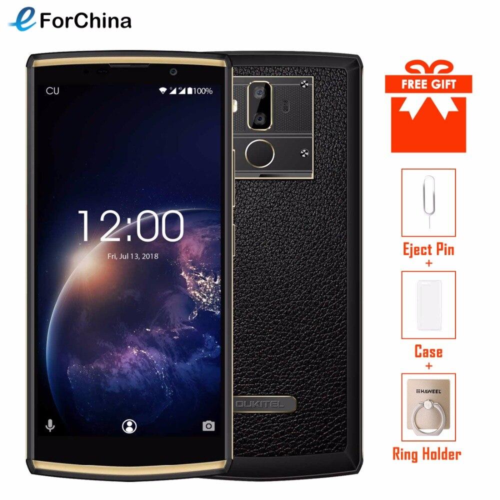 Oukitel K7 Puissance 6.0 Écran Mobile Téléphone Android 8.1 2g RAM 16g ROM 10000 mah Charge Rapide MTK6750T D'empreintes Digitales Double Arrière Caméra