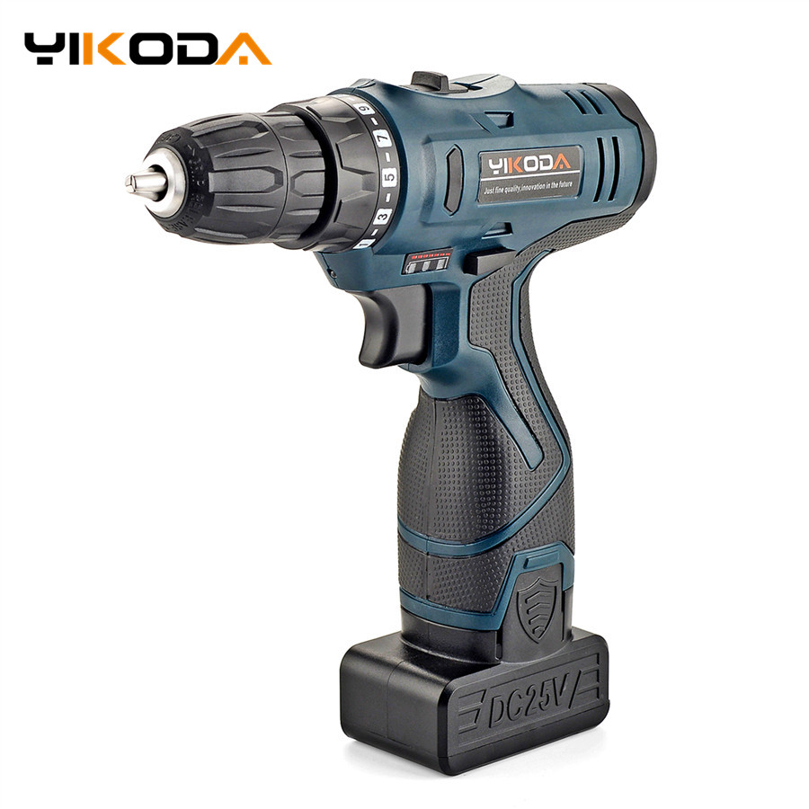 25V Electric Screwdriver Handheld Cordless Screwdriver Lithium Battery Electric Drill Household Electric Screwdriver Power Tools