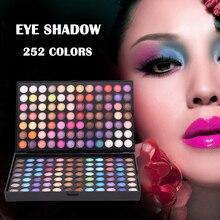 252 Color Eyeshadow Palette Eye Shadow Makeup Box Artist Studio School Essential Tools JIU55