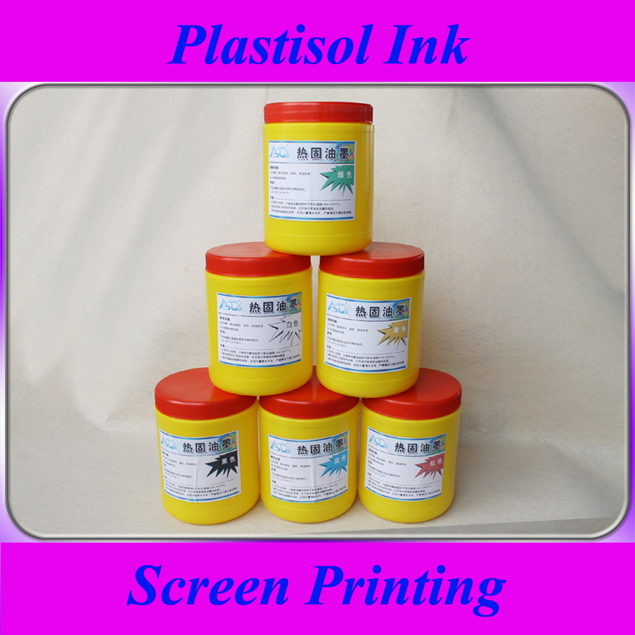 ФОТО 6 bottles of plastisol ink for screen printing, 500g/bottle.