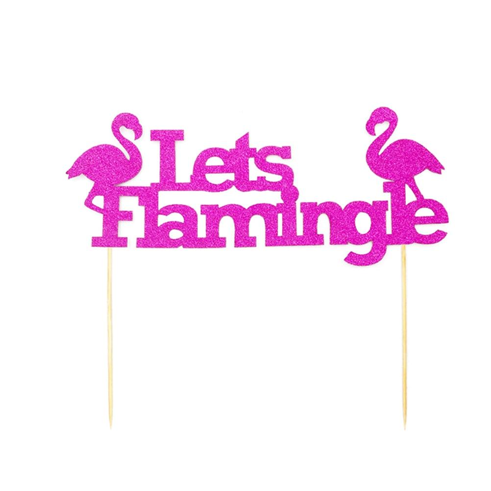 Flamingo Cake Toppers Cake Picks For Summer Hawaii Wedding Birthday ...