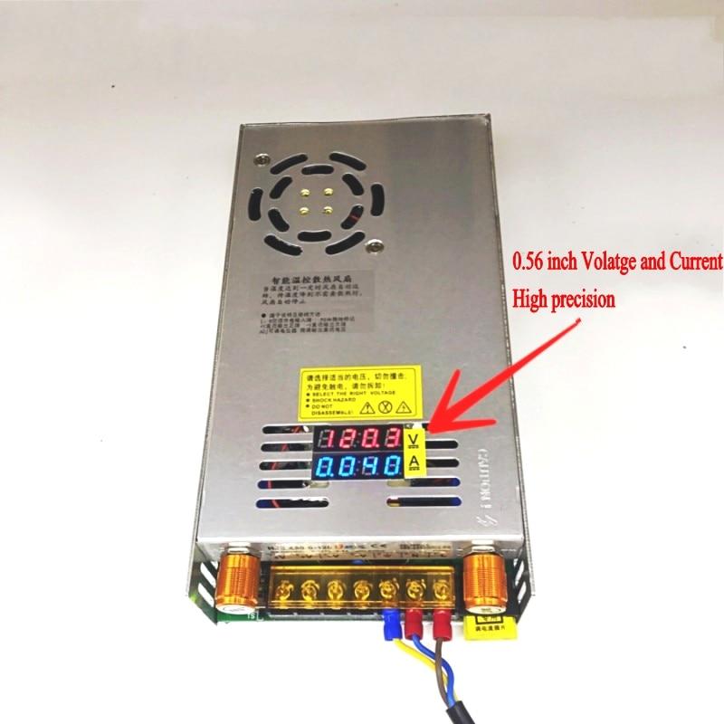 AC-DC Converter Digital display current Voltage adjustable Switch regulated power supply DC 12V 24v 36v 48v 60v 80v 120v 480W-2