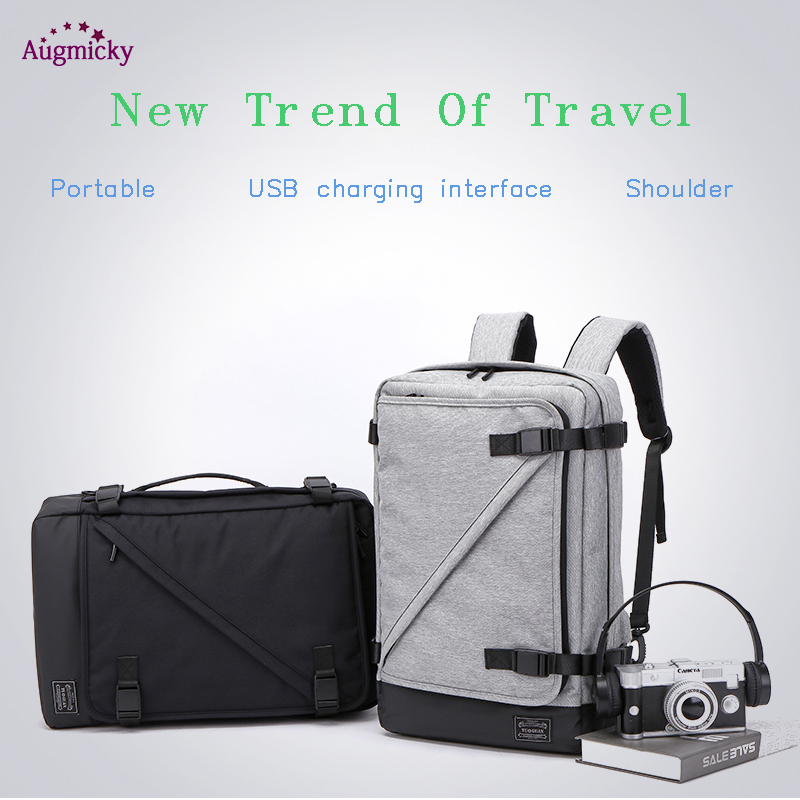 Image 4 - USB Charge Large Capacity 15.6 Laptop bag Men Backpack Travel Backpack Bags For Women Teenagers Computer School Bagpack Rucksack-in Laptop Bags & Cases from Computer & Office