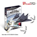 Candice guo 3D puzzle paper model toy assemble building game stereomodel P629H Super Military F-117 Nighthawk & F/A-18 2pcs/set