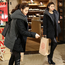 2017 Winter Women Oversized Casual Parkas Jacket Hooded Wadded Padded Jacket Female Loose Plus Size Maxi Warm Coat  L-4XL