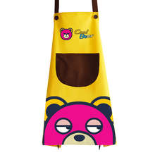 68x74cm Cartoon Cool Bear Printed Waterproof Oil-proof Apron Home Kitchen Supplies Cooking Cleaning Tool wq002 kitchen oil proof cloth apron black