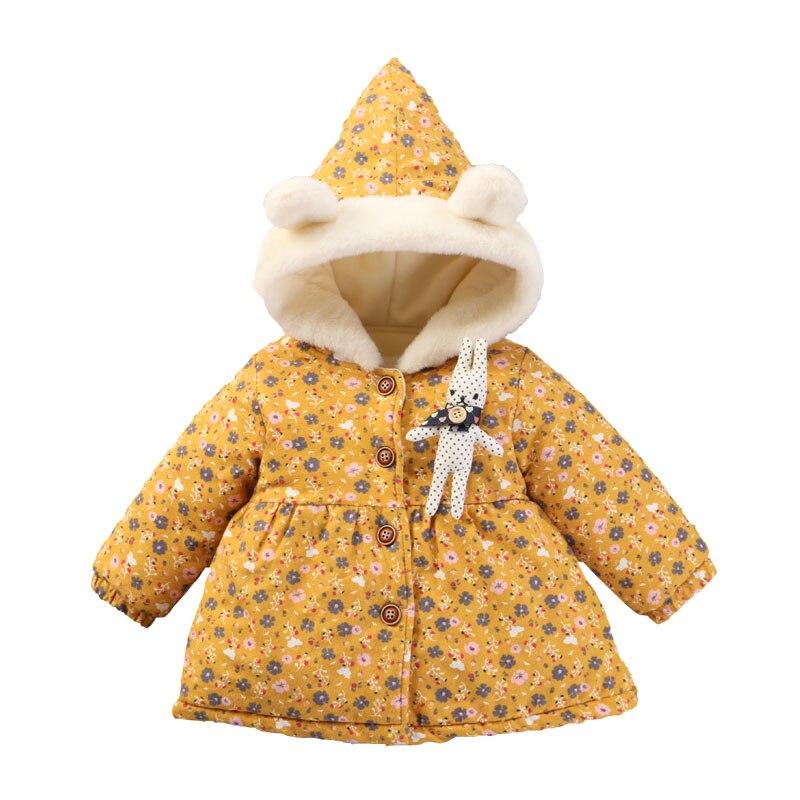 Brillant Baby Mädchen Dot Baumwolle Gefütterte Jacke