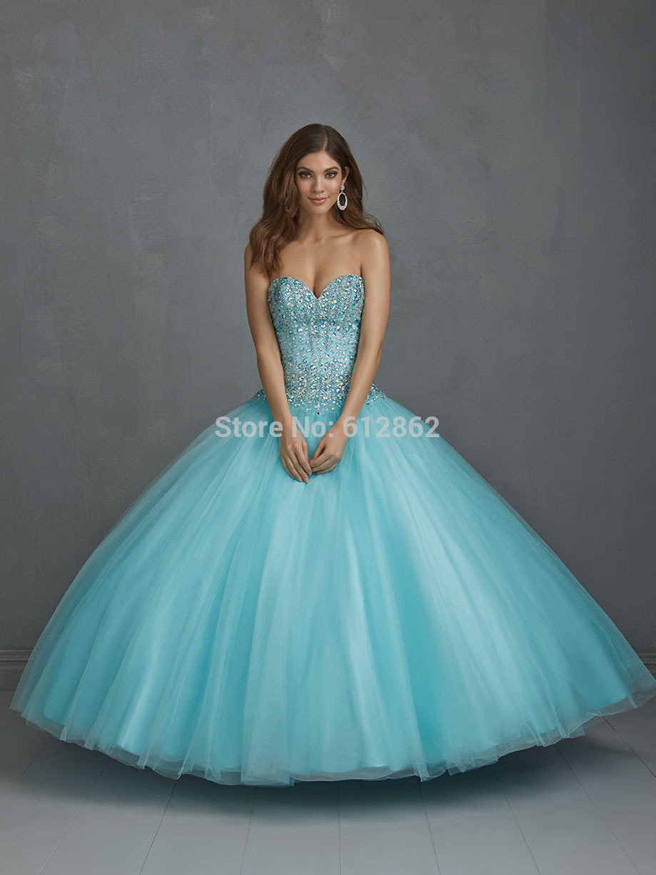 High Quality Puffy Blue Prom Dresses-Buy Cheap Puffy Blue Prom ...