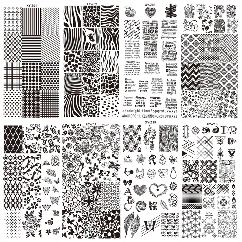 New Assorted Designs Nail Art Metal Plate Image Stamping Plates DIY Manicure Printing Template Plate Tool XYZ01 16
