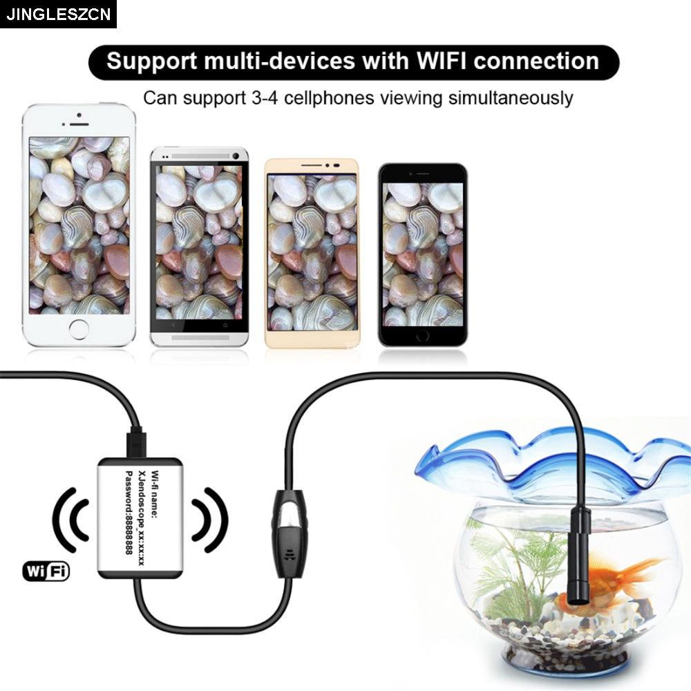 JINGLESZCN Wifi Endoscopio Cam 720 P HD IOS Android 9 MM Dia 1 m 3.5 m 5 m Impermeabile IP67 periscopio Ispezione USB Camera Endoscopica