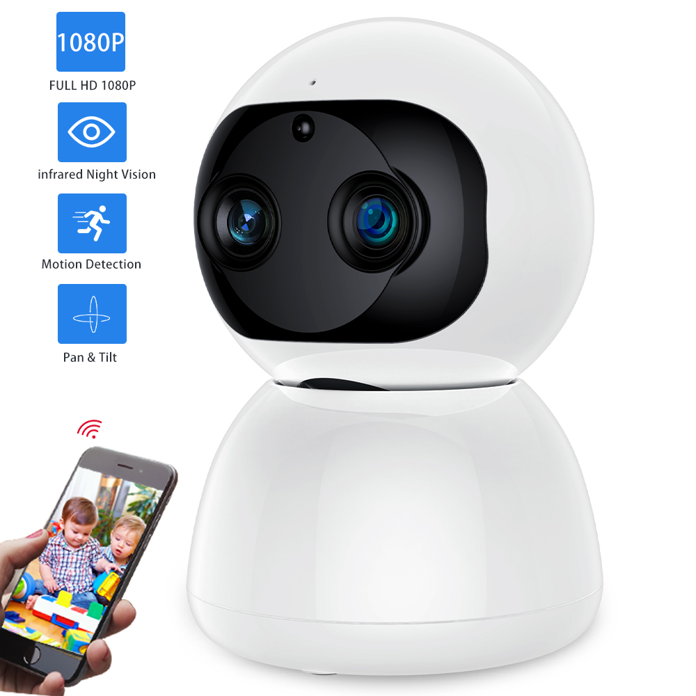 SDETER Dual-Lens 1080P Wireless CCTV Camera IP Security Camera Wifi Network Baby Monitor Infrared Night Vision PTZ Camera WifiSDETER Dual-Lens 1080P Wireless CCTV Camera IP Security Camera Wifi Network Baby Monitor Infrared Night Vision PTZ Camera Wifi