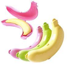Nowy kwalifikowany ładny 3 kolory owoc banan Ochraniacz pudło uchwyt Case lunch pojemnik Storage Box dla dzieci ochraniać owoc Case SEP20 tanie tanio Pudełka do przechowywania pojemniki Nowoczesne Żywności Przyjazne dla środowiska Wielokąt Z TENSKE Rzeźbione 19 x 4 x 4cm