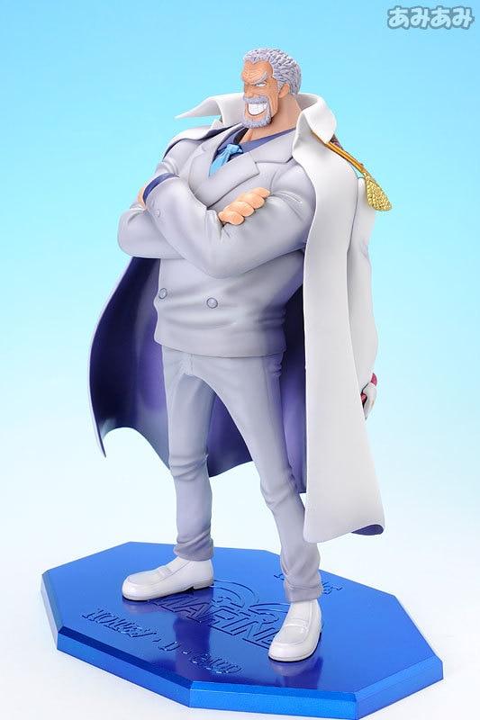 9 Inch One piece Luffy Grandpa 23cm PVC Action Figure Collection Lieutenant General Monkey D Garp Model Dolls Decorations