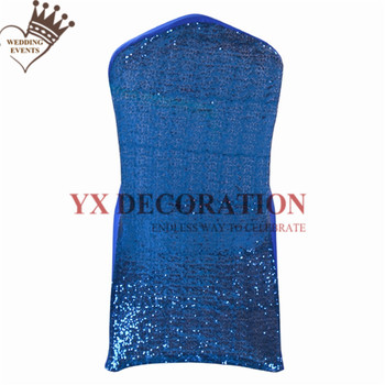 15 Colors Choose Sequin Lycra Spandex Chair Cover Banquet Wedding Stretch Chair Covers Decoration