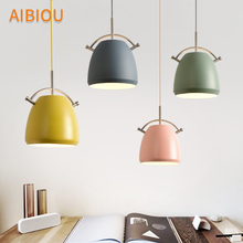 AIBIOU Designer LED Pendant Lights For Dining Colorful Lamp E27 Bar Light Kitchen Hanging Lighting Fixtures