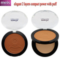 quality powder maquiagem classic  compact power makeup pressed powder with puff mirror 2 layers Free shipping