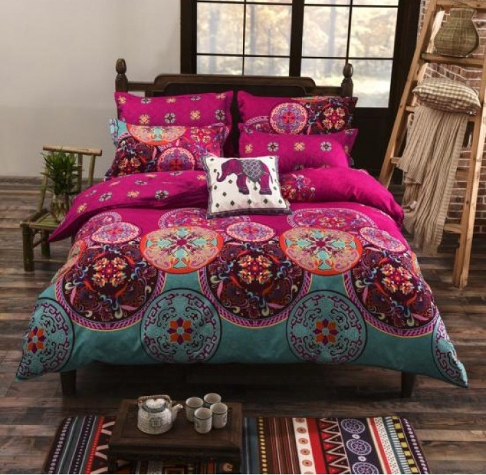 Us 58 0 Boho Bedding Sets Bohemian Style Duvet Cover Set Bed In A Bag Sheet Linen Bedspread Quilt Home Queen Size Full Twin 4pcs