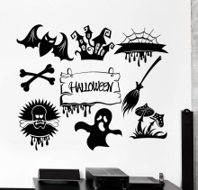 Horror monster ghost halloween feast decoration vinyl wall decal cafe bar entertainment place home art decoration WSJ21