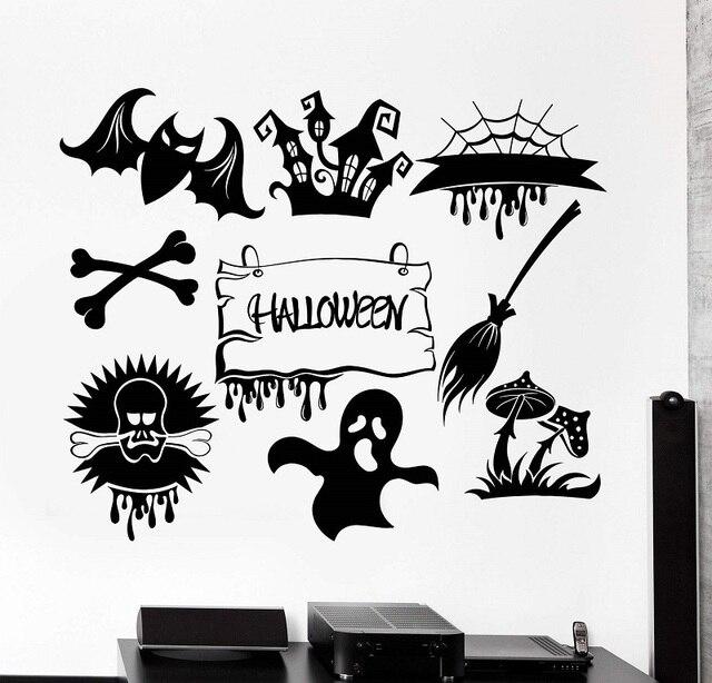 Horror potwór duch halloween święto dekoracji vinyl kalkomania ścienna cafe bar rozrywka miejsce dekoracji domu sztuki WSJ21