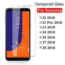 9H Protective glass for samsung galaxy j4 j6 j8 j7 j3 j2 pro 2018 Tempered glass for Samsung j 2 3 4 6 7 8 screen protector film(China)