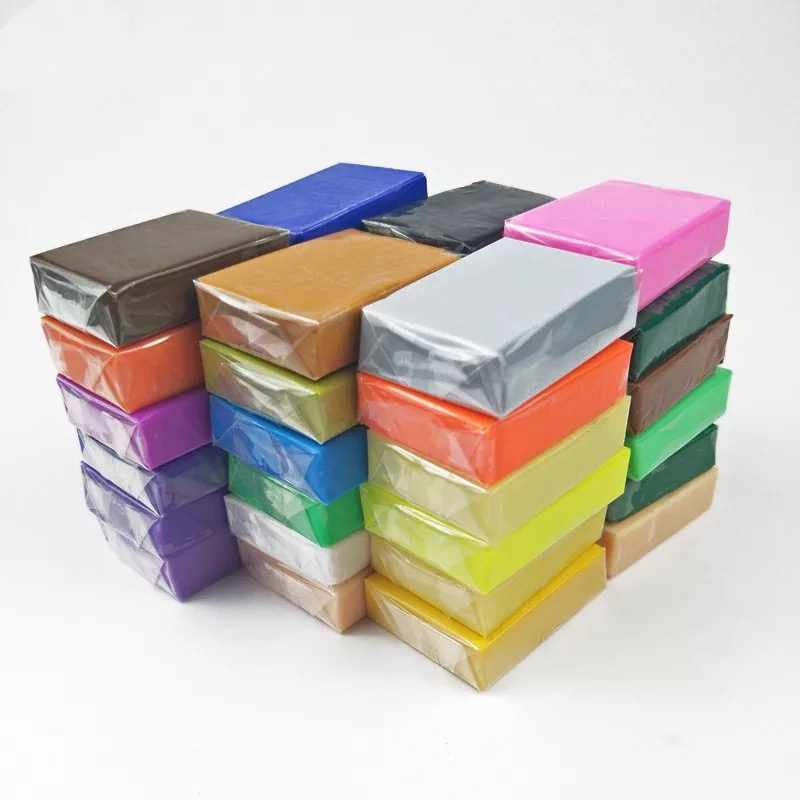36 Colors Set Soft Clay Oven-Baked Polymer Non-Toxic for Educating Practicing Beginner Student Users 20g/40g per Color