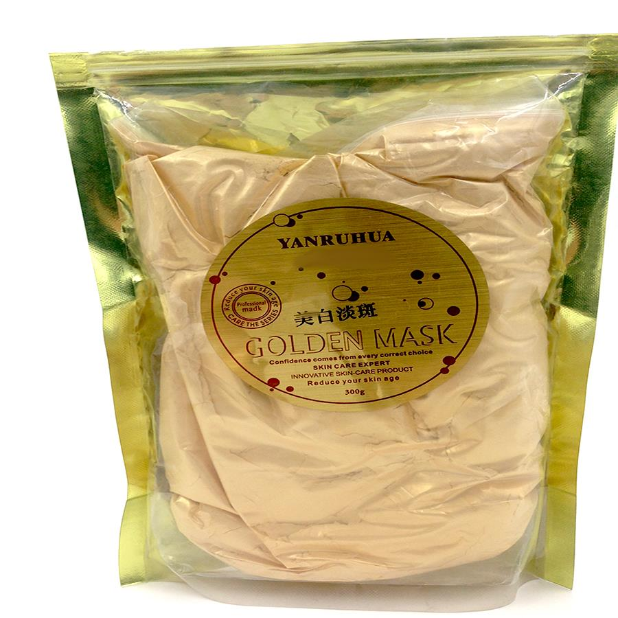24K GOLD Active Face Mask Powder Brightening Luxury Spa Anti Aging Wrinkle 24K Gold Mask Powder Treatment Facial Mask 300G
