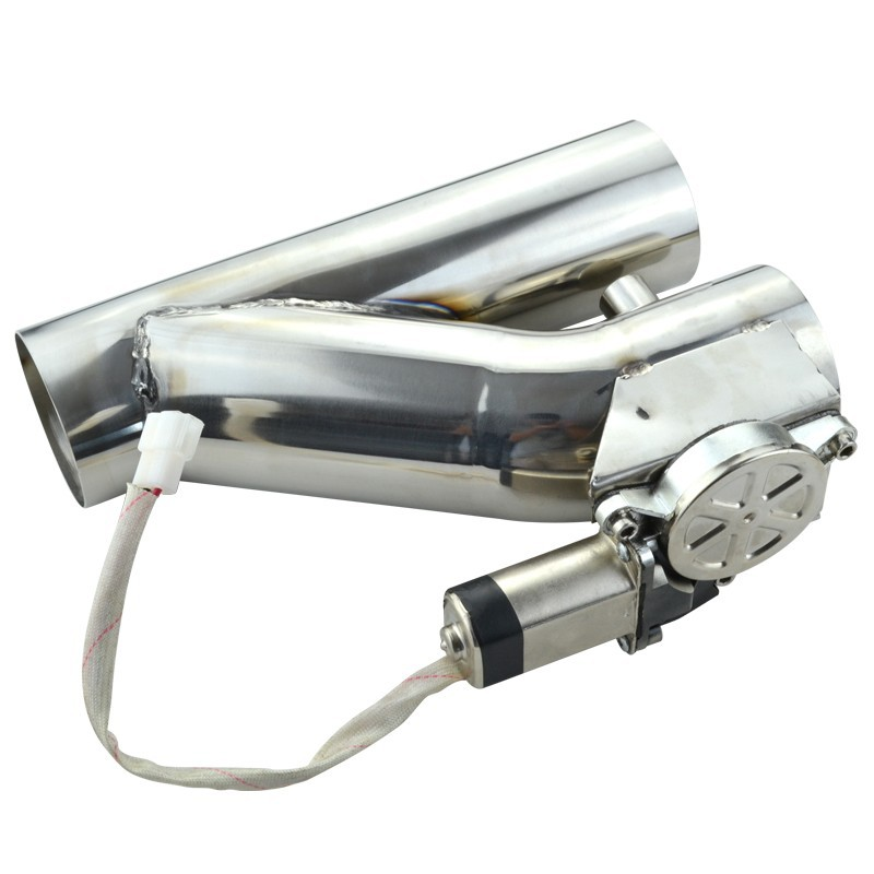 ESPEEDER 2.5 Stainless Steel Headers Y Pipe Electric Exhaust Catback CutOut Kit With Remote Control Car Exhaust Pipe