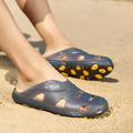 2017 New Summer Beach Shoes Men Casual Slippers Breathable Sandals Men Fashion Slip Ons Indoor Soft Summer Cool Slippers Size 45
