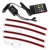 Music Control LED Strip Lights 7 Colors Atmosphere Lamp Car RGB LED Strip Light Car Styling