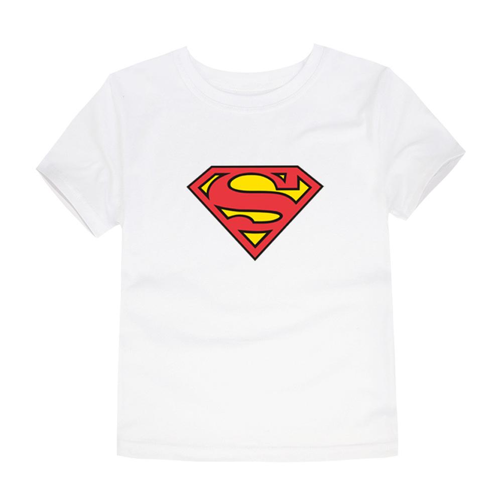 HTB1VWaAQVXXXXbNXpXXq6xXFXXXl - TINOLULING 2018 Kids Superman T-Shirt Boys Girls Batman T Shirt Children Tops Baby Tees For 2-14 Years