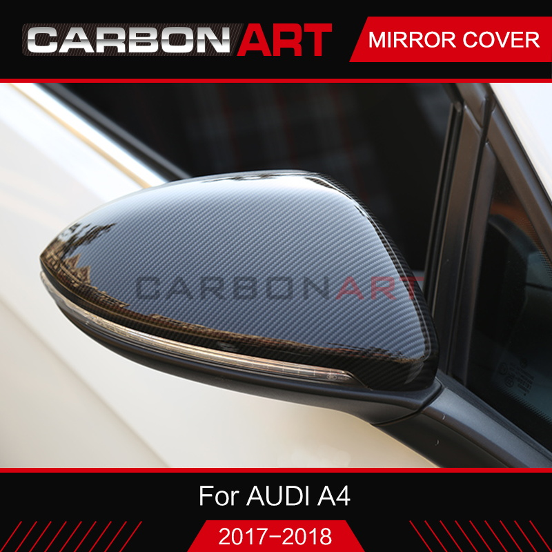 For Audi A4 B9 S4 A5 dry Carbon Fiber Rear View Side Mirror Cover 2016 2017