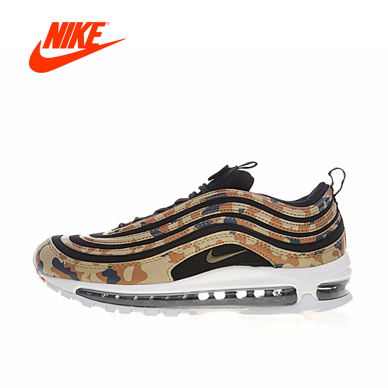 цена на Original New Arrival Authentic Nike Air Max 97 Japan Khaki Camouflage Men's Running Shoes Sport Outdoor Sneakers AJ2614-204